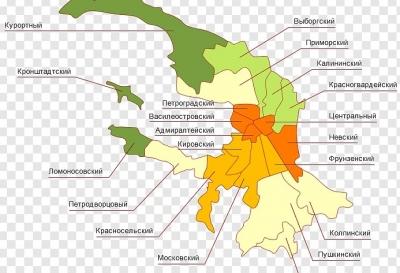 В каких районах Санкт-Петербурга коронавирус – карта