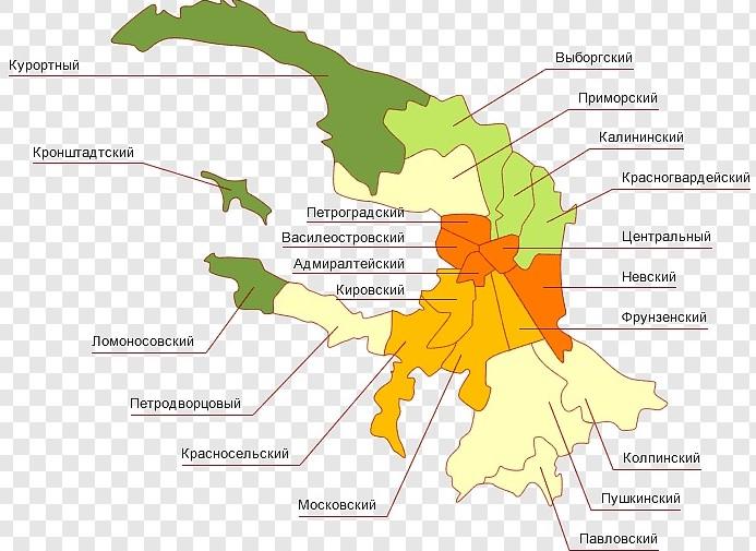 Карта коронавирус в СПБ